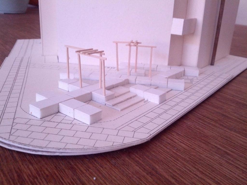 Model i 1:100 af fortovshaven