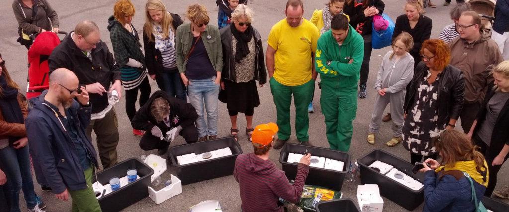 Indvielse af Fortovshave og TagTomat-Søndag på Tåsinge Plads