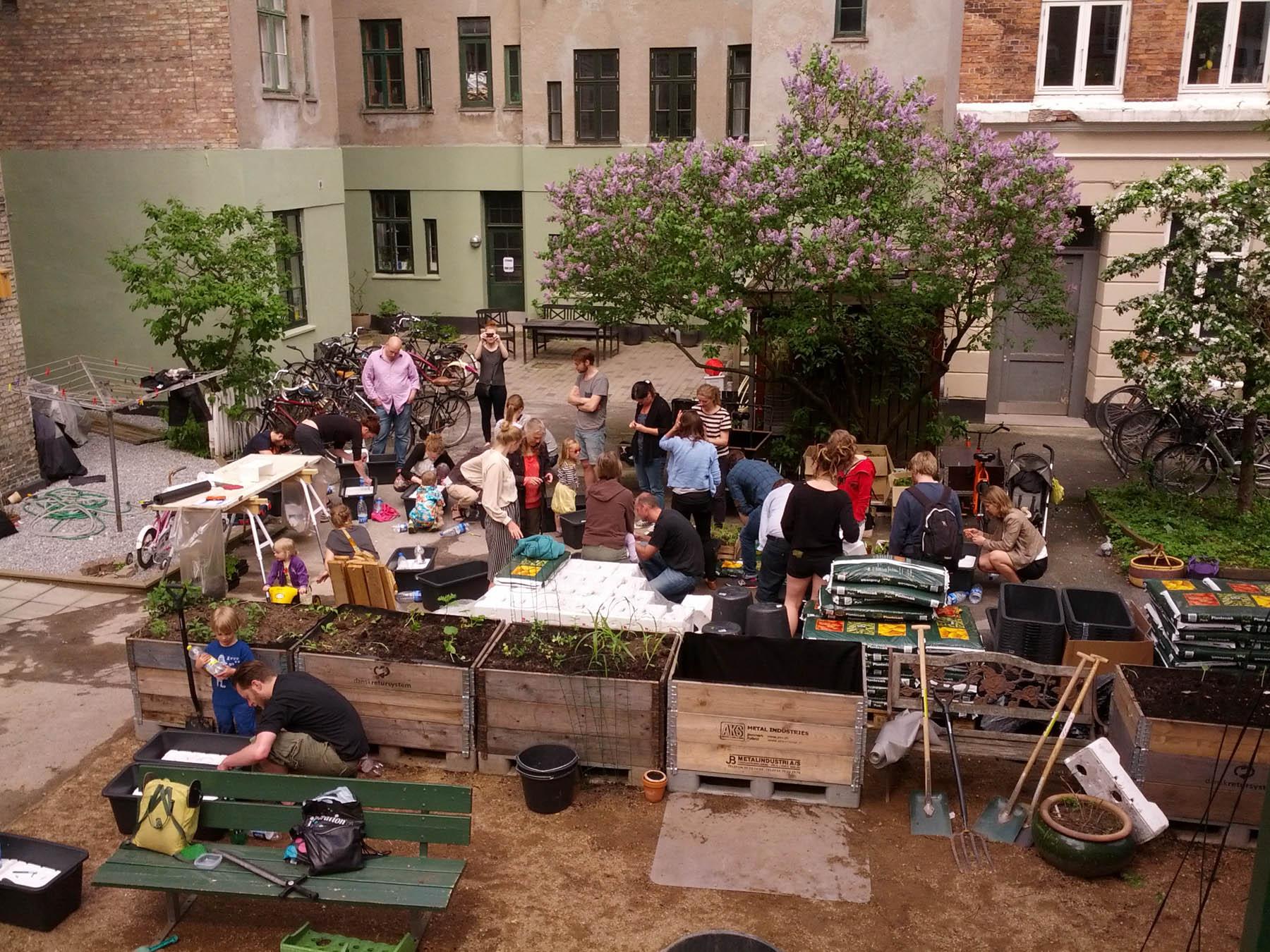 Workshop i gården