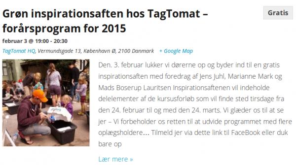 Gratis foredrag hos TagTomat