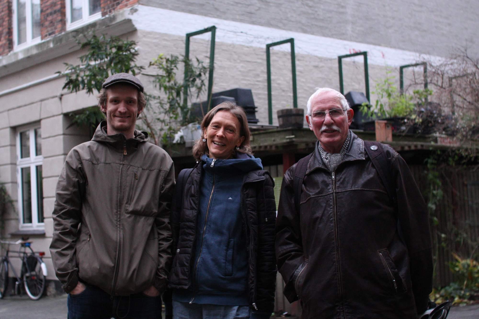 Kursusunderviserne Mads, Marianne og Jens