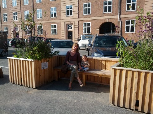 Plantekasser og siddepladser