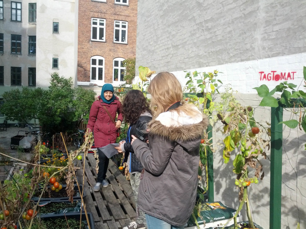 Besøg fra Nørrebro Park Skole og græskaruhygge i Jagtgården
