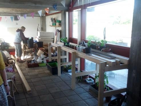 Plantebordet inden det får bordplade