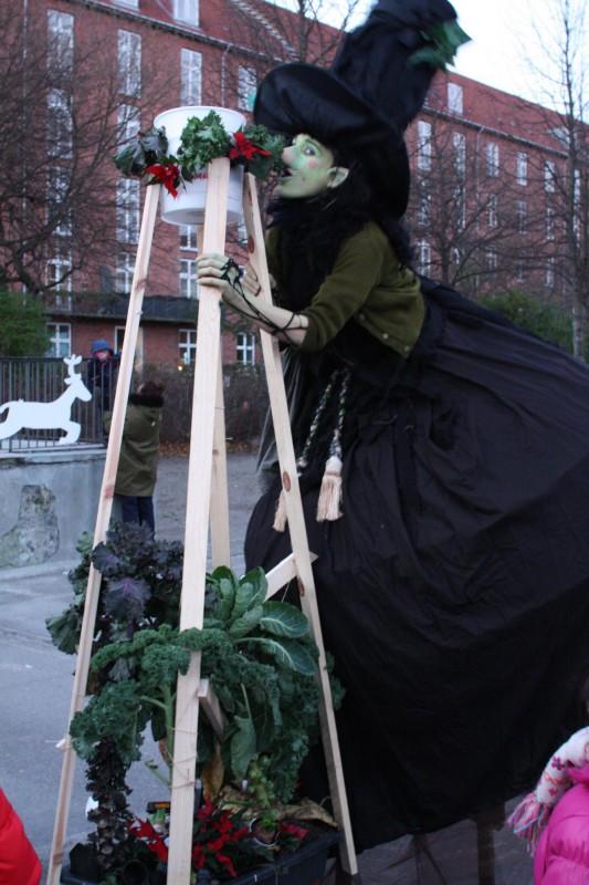 Julealfen spiser sig stor og stærk i grøntkålen
