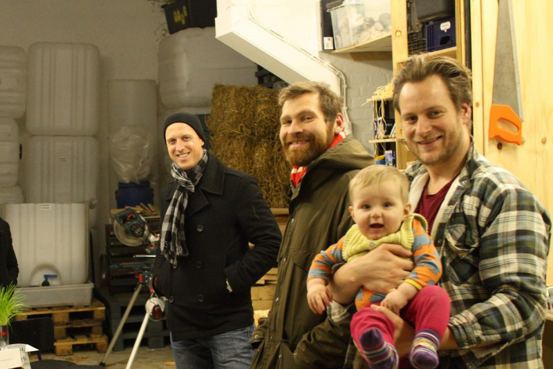 Jason, Andreas, Kristian and Gustav @ the workshop