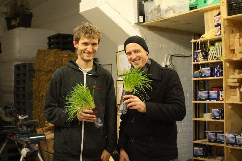 Mads Boserup Lauritsen and Jason Roberts @ the workshop of TagTomat