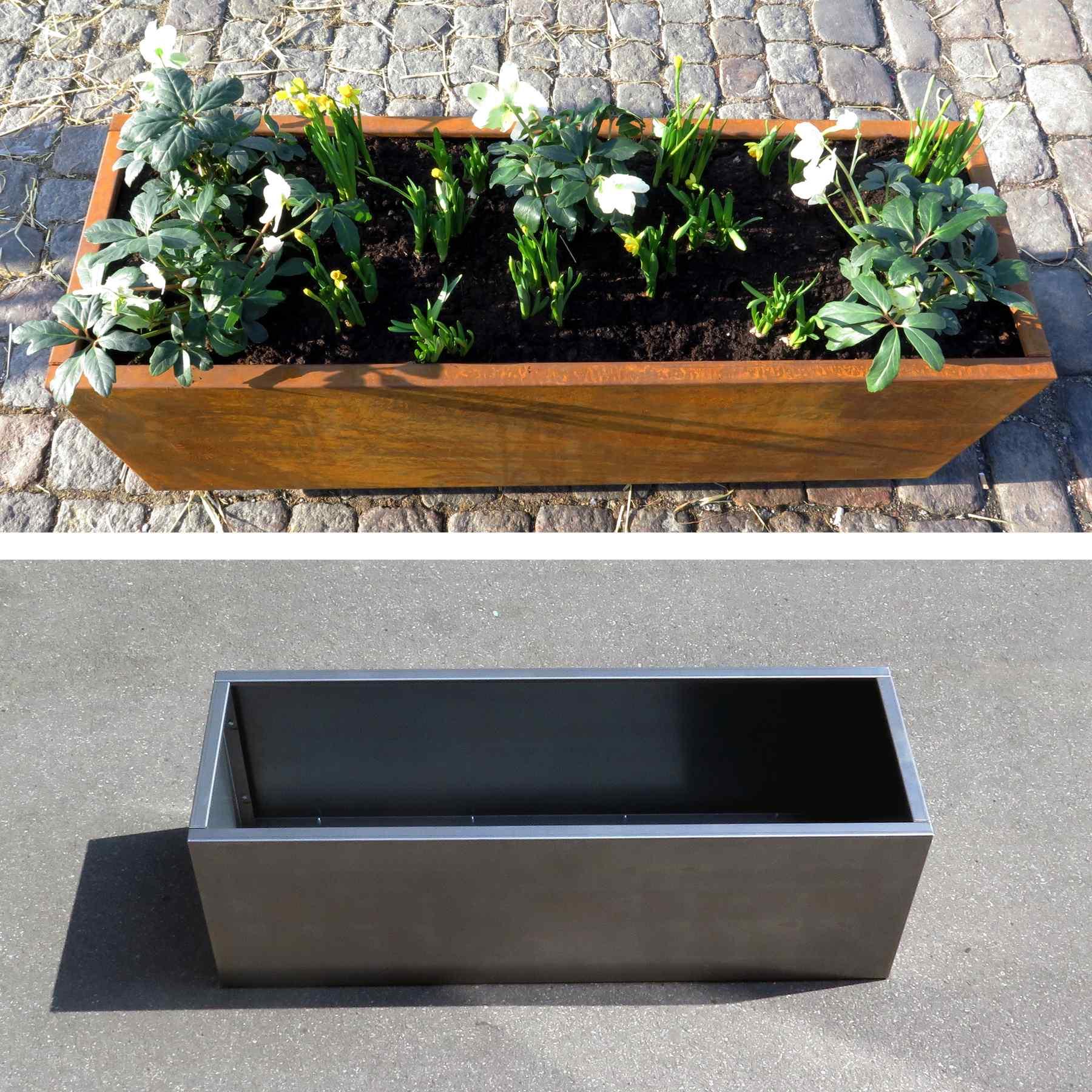 #9F5C2C Mest effektive Plantekumme I Corten 120x40x40 192 Liter TagTomat Gør Det Selv Værksted København Glentevej 6365 180018006365