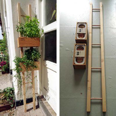 Plantestativ med to KøkkenKasser og ophæng