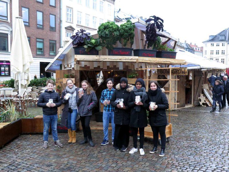 7. klasse fra Hedegårdens skole i Roskilde til workshop 1. december