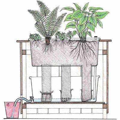 Pasningsguide til selvvandende plantekasser med eksternt reservoir