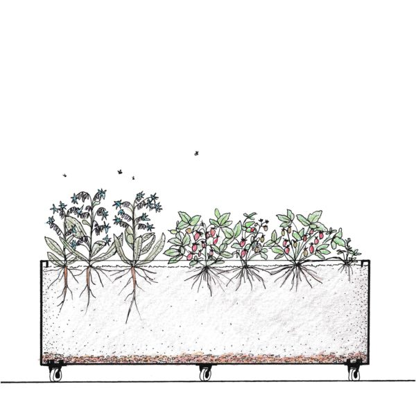 Pasningsguide til Plantekumme i cortenstål
