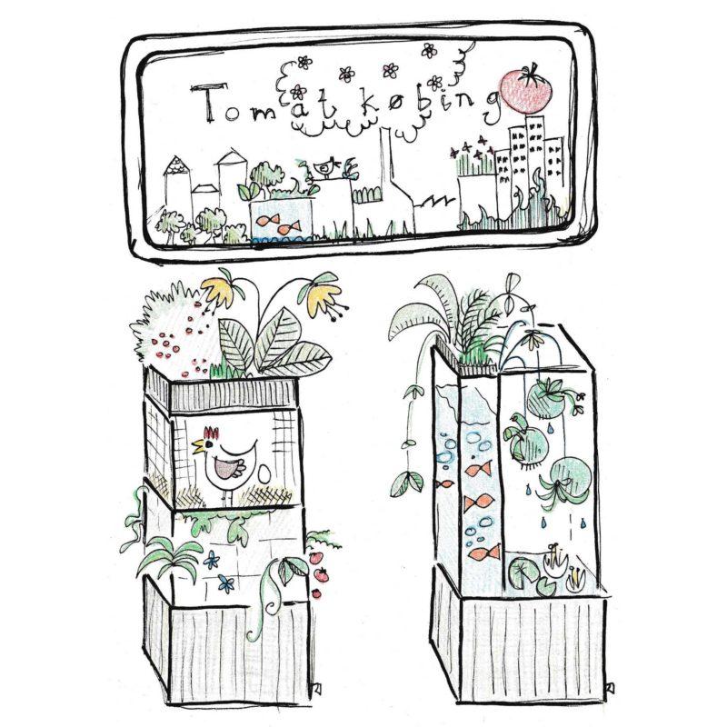 """Anne Tanges skitse af TagTomats nøglehulsbed til CPH Garden 2017. <a href=""""https://www.tagtomat.dk/2017/05/25/mod-tagtomat-til-cph-garden-2017/"""">Læs mere om tankerne bag</a>."""