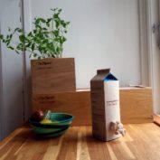 SvampeBox ved siden af KøkkenKasser størrelse XS og M