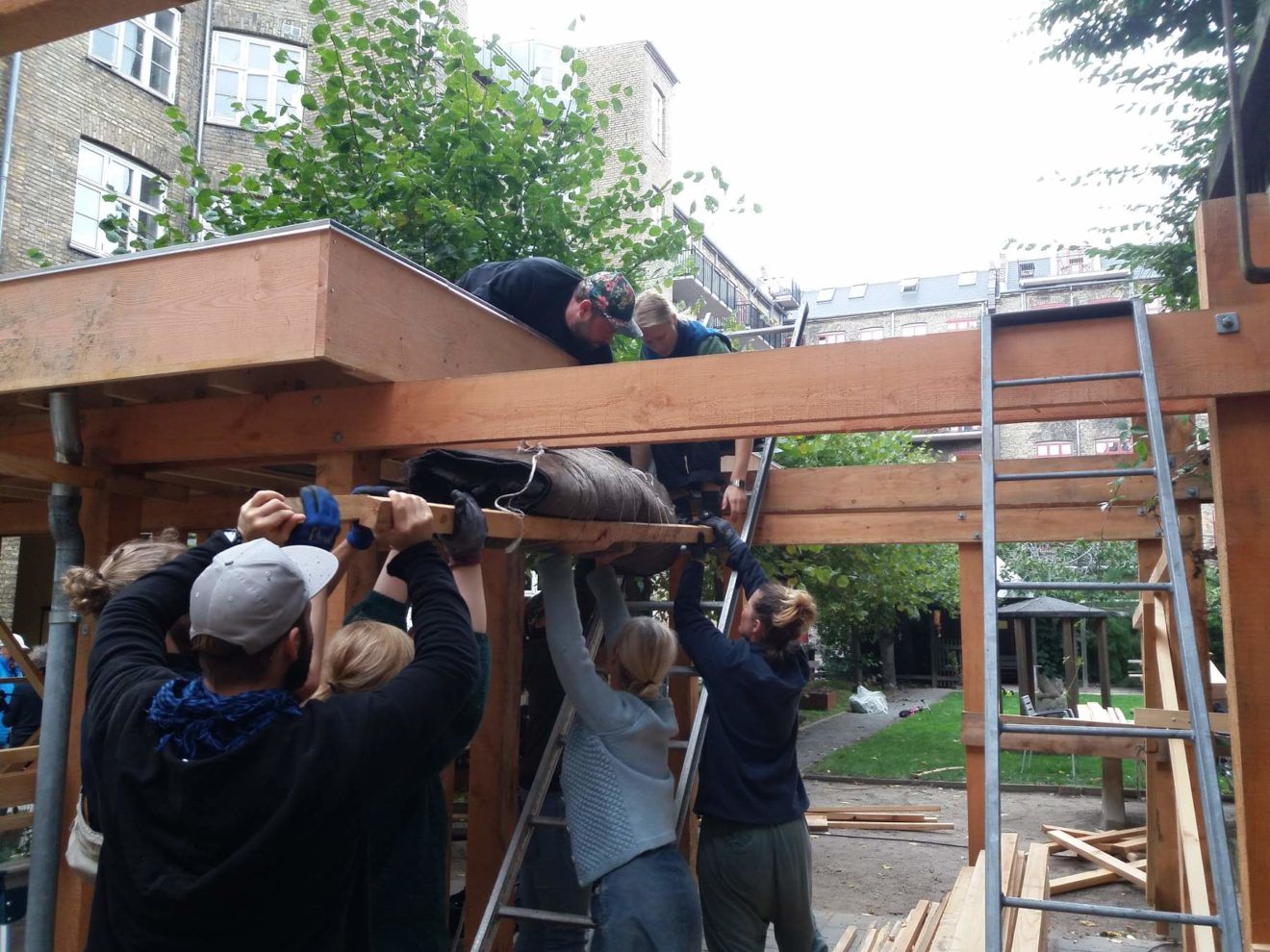 Samskabelse og genbrug er fortsat i fokus i Gårdprojekt Baldersgården