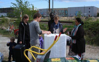 Plantekasseworkshop i Lersøgrøftens Integrationsbyhaver – Fællesskab mellem Nørrebro og Bispebjerg