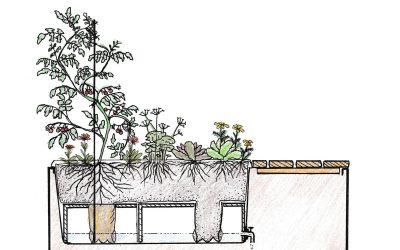 Pixiguide til Kombinationsmøbel plantekasse i corten